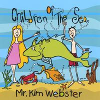 'Children Of The Sea' Album Art - a girl and boy smile and wave among various sea creatures.