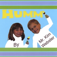 'Humm' Album Art - a girl and boy paint the word 'Humm'.