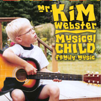 'Musical Child' Album Art - a young child sits with a guitar in thought.